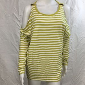 MK Michael kors green stripe jersey knit